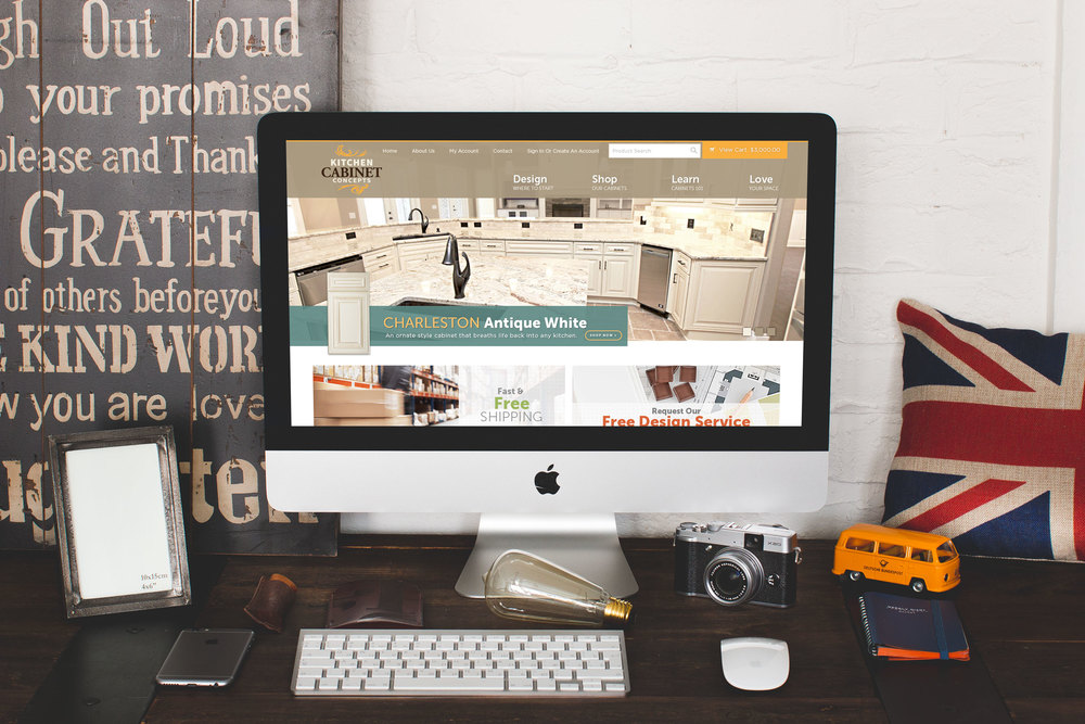 Kitchen Cabinet Concepts - Ecommerce Website Design — Striking Alchemy