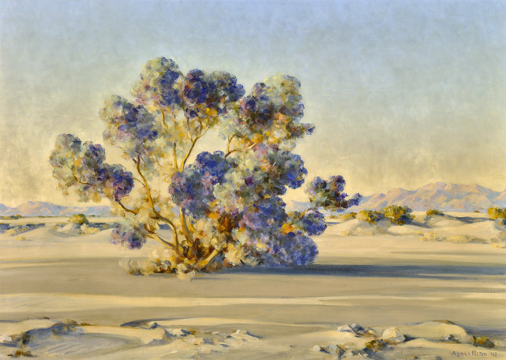Desert Royalty  by Agnes Pelton (1881 - 1961)    26 x 36 inches oil on canvas    Class of Winter 1942.