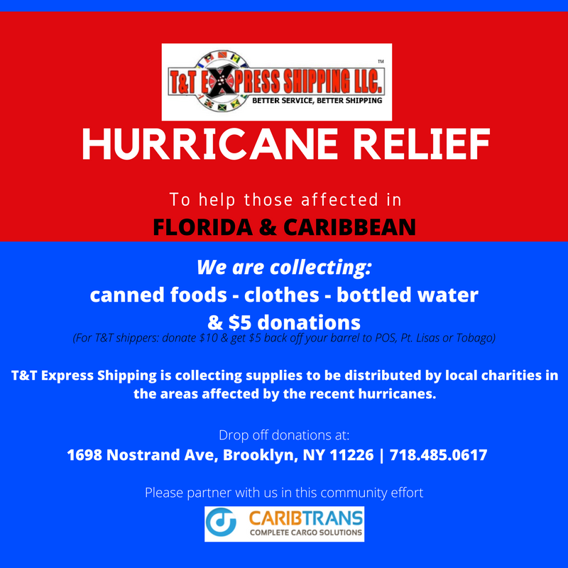 T&T Hurrican Relief