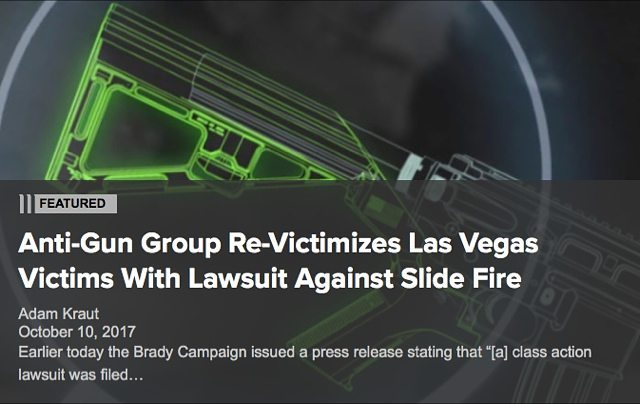 Anti-Gun Group Re-Victimizes Las Vegas Victims with Lawsuit Against Slide Fire