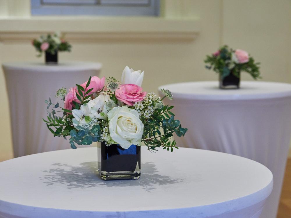 Cocktail Table - Alstromeria | Tulips | Roses | Lisianthus | Astrantia | Wax Flowers