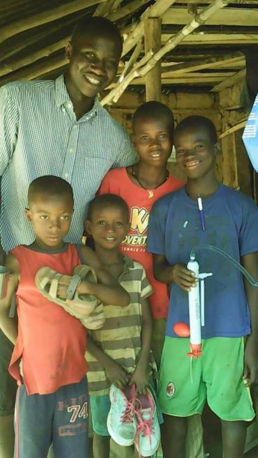 Smiles from the children with a new source for clean water.