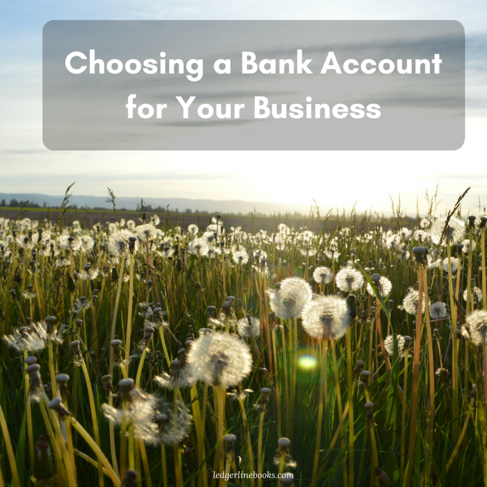 Choosing a Business Bank Account