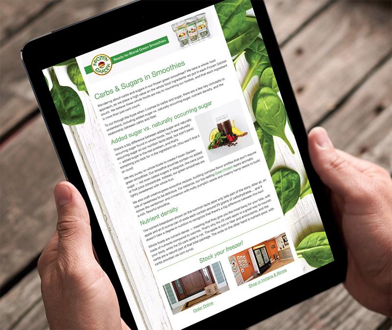 Frozen Garden Email Newsletter -