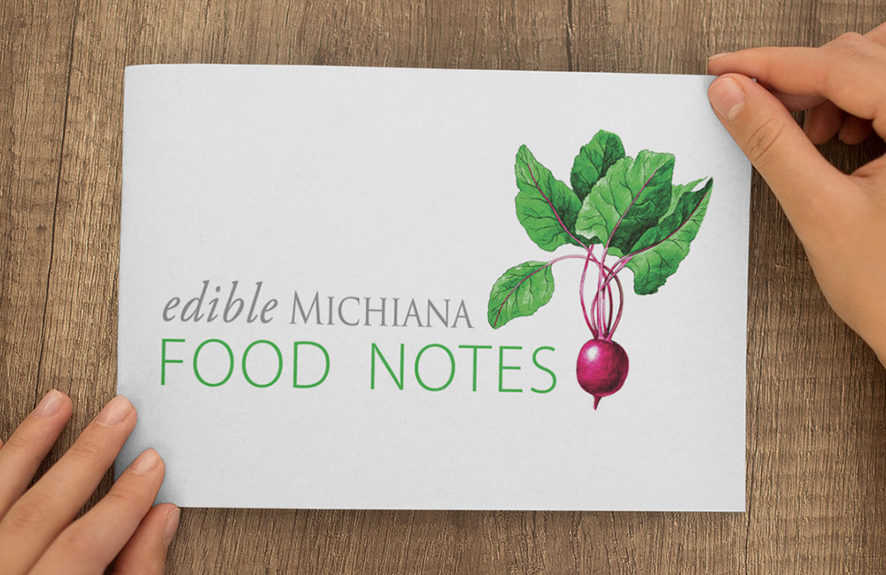 Edible Magazine Newsletter Logo - Edible MichianaWe designed this logo for a local food magazine's email newsletter, and we included their existing magazine branding (the top line in gray).