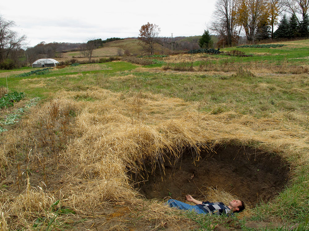 SOIAH (Sky Observatory In A Hole),  Fall 2010,  Dellano Township/ Reedsburg, Wisconsin