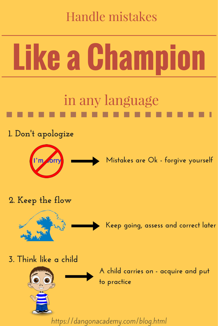 How to handle language mistakes