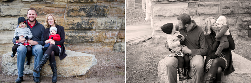 01-mill-city-ruins-park-fall-family-session-red-blak-gray-color-scheme-melanie-mahonen-photography