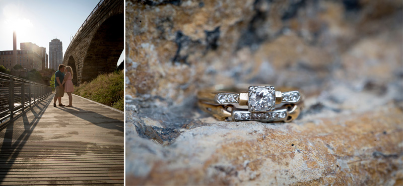 03-mill-city-ruins-park-minneapolis-minnesota-summer-engagement-session-stone-arch-bridge-ring-detail-melanie-mahonen-photography