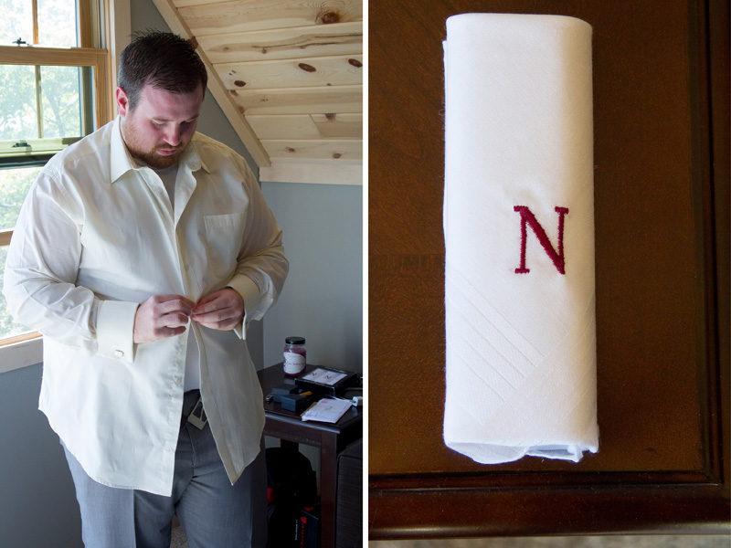 03-north-shore-minnesota-wedding-two-harbors-vacation-home-groom-getting-ready-monogramed-handkercheif-melanie-mahonen-photography