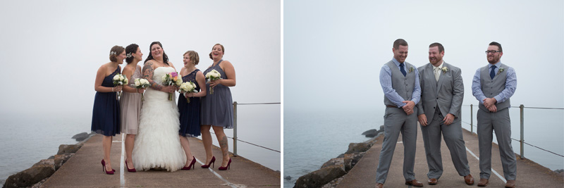 08-two-harbors-minnesota-foggy-wedding-day-lighthouse-wedding-party-happy-portraits-melanie-mahonen-photography