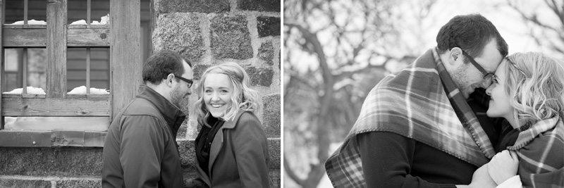 02-theodore-wirth-park-winter-engagment-session-golden-valley-minnesota-black-and-white-fun-moments-plaid-blanket-mahonen-photography