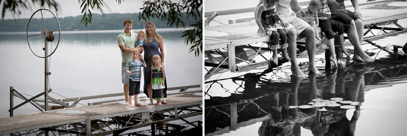 01-cabin-family-photo-session-dock-melanie-mahonen-photography