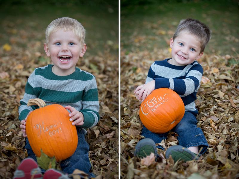 01-fall-color-leaves-kids-portraits-etched-pumpkins-melanie-mahonen-photography