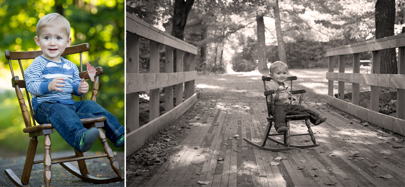 04-fall-family-session-country-bridge-old-rocking-chair-one-year-old-boy-melanie-mahonen-photography