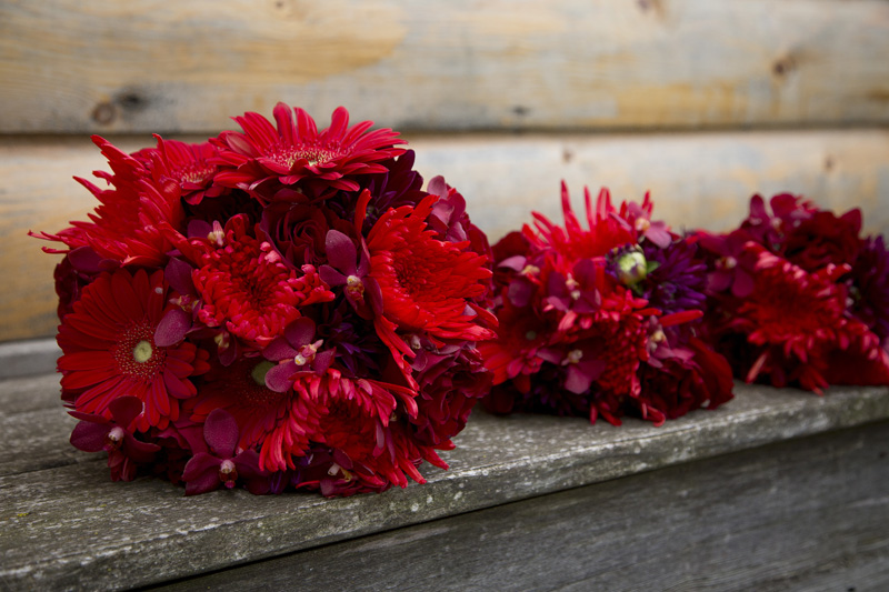 08-red-gerber-daisy-bridal-bouquets-melanie-mahonen-photography