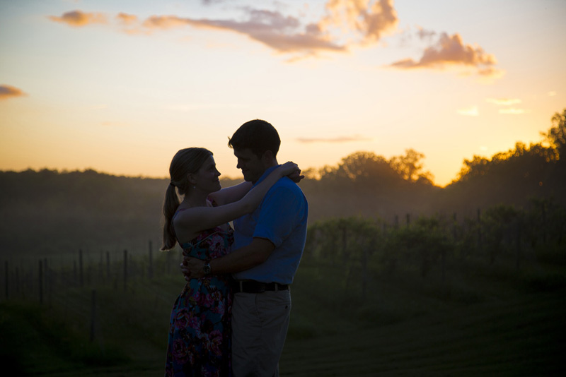 08-wedding-rehearsal-sunset-silhouette-bride-groom-to-be-wedding-eve-vineyard-minnesota-summer