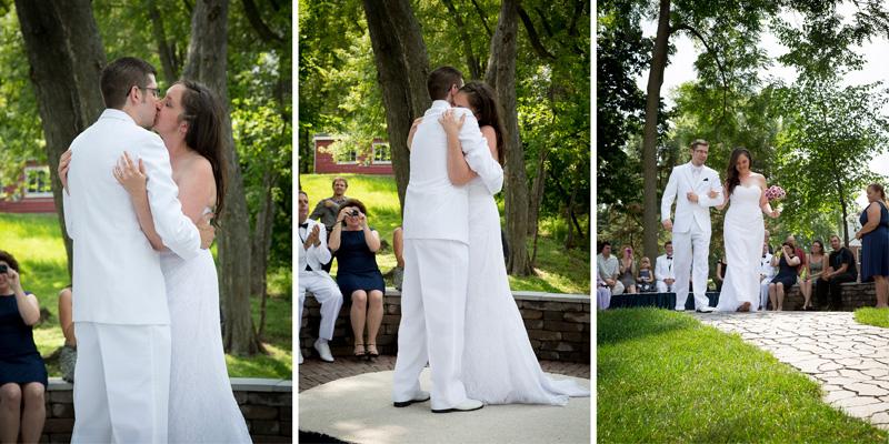 09-minnesota-backyard-summer-wedding-frost-kiss-husband-wife-happy-bride-groom-melanie-mahonen-photography