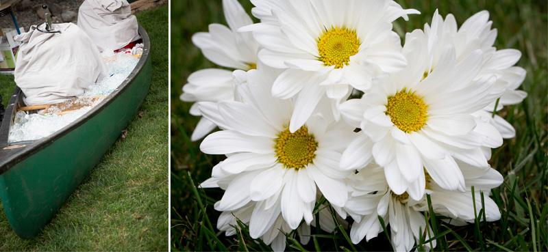 10-minnesota-summer-backyard-wedding-reception-canoe-beverage-holder-white-daisies-melanie-mahonen-photography