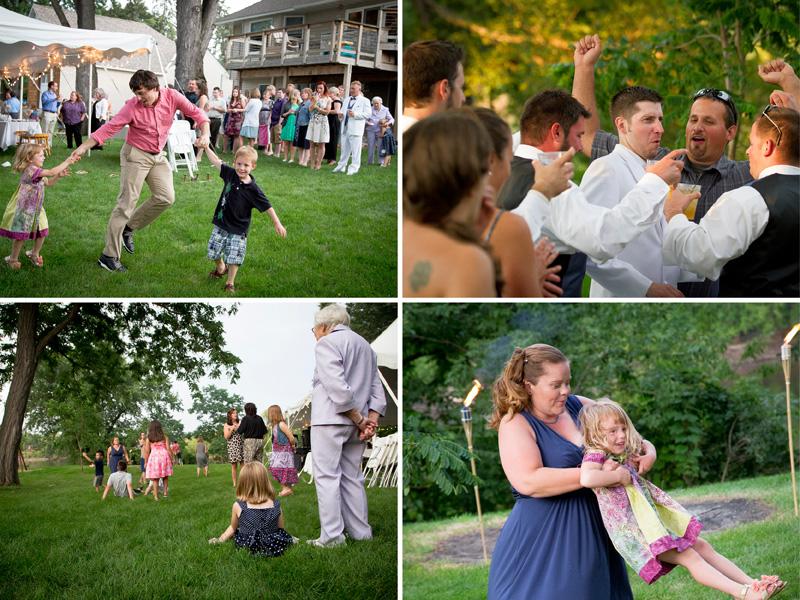 16-minnesota-casual-summer-backyard-wedding-reception-guests-dancing-fun-family-melanie-mahonen-photography