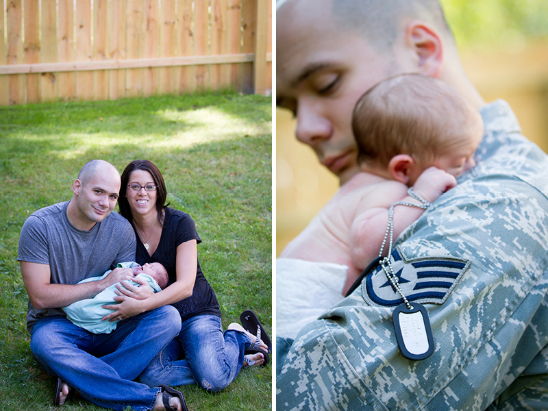 02-in-home-newborn-session-family-new-parents-military-dad-dog-tags-baby-boy-melanie-mahonen-photography