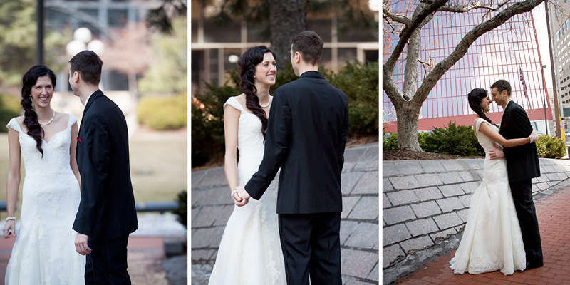 05-bride-groom-first-look-downtown-minneapolis-minnesota-early-spring-wedding-melanie-mahonen-photography