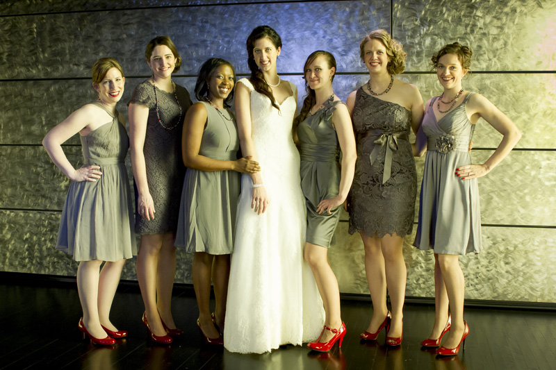 08-bridesmaids-guthrie-theater-ninth-floor-minneapolis-minnesota-gray-dresses-red-shoes-melanie-mahonen-photography