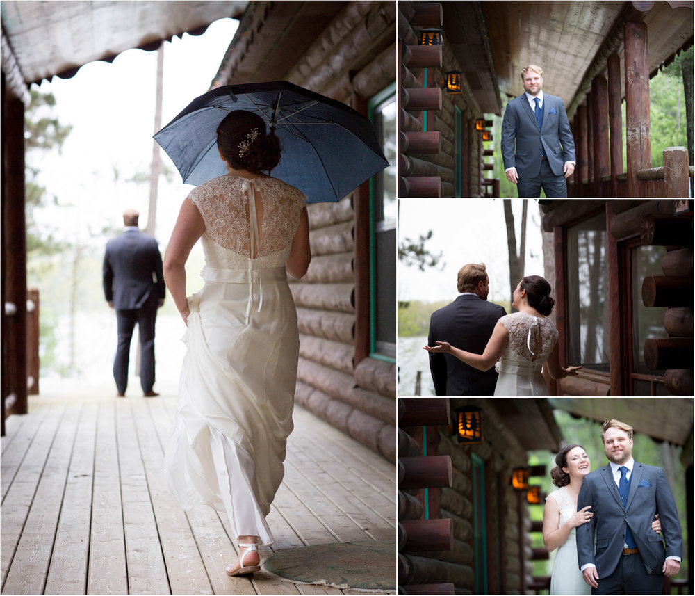 05-cabin-wedding-north-woods-hayward-wisconsin-rainy-day-first-look-bride-and-groom-mahonen-photography