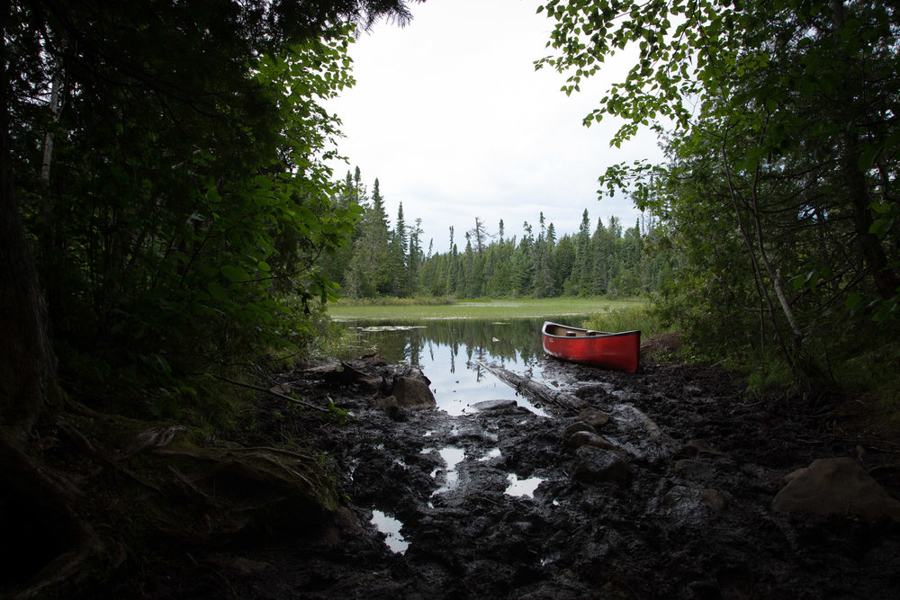 This portage had mud past our knees!