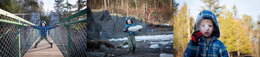 This kid loves to through ice chunks around and club on the big rocks up north!