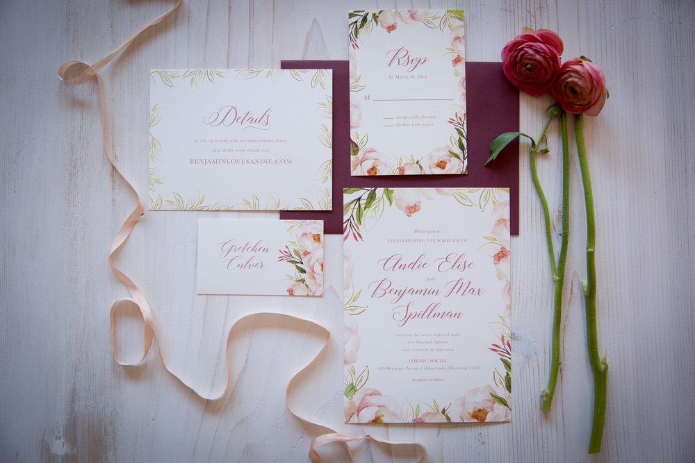 02-wedding-invitation-suite-pink-floral-soft-script-ribbon-mahonen-photography.jpg