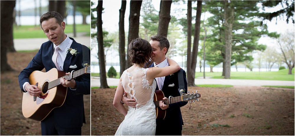04-bride-and-groom-first-look-guitar-romantic-song-woods-bishops-bay-country-club-madison-wisconsin-mahonen-photography.jpg