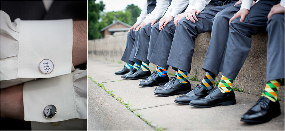 14-groomsmen-groom-details-bright-argyle-socks-fun-colors-gray-suits-custom-memorial-cufflinks-personalized-always-in-my-heart-father-of-the-groom-mahonen-photography.jpg