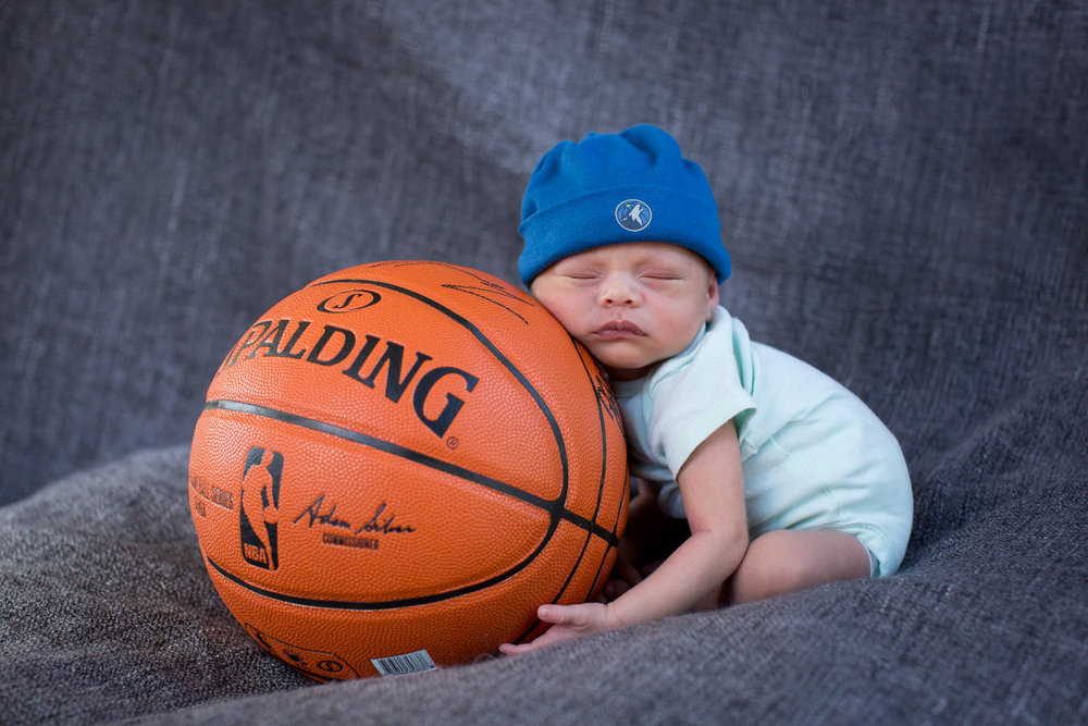 Future basketball fan over here!