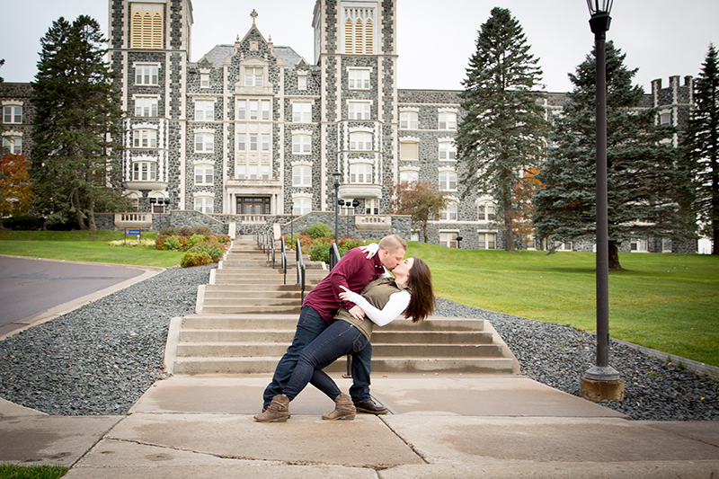 This couple met in a class they took together at St. Scholastica in Duluth. We started in front of this iconic building and then went to another location in Duluth to add variety to their images.