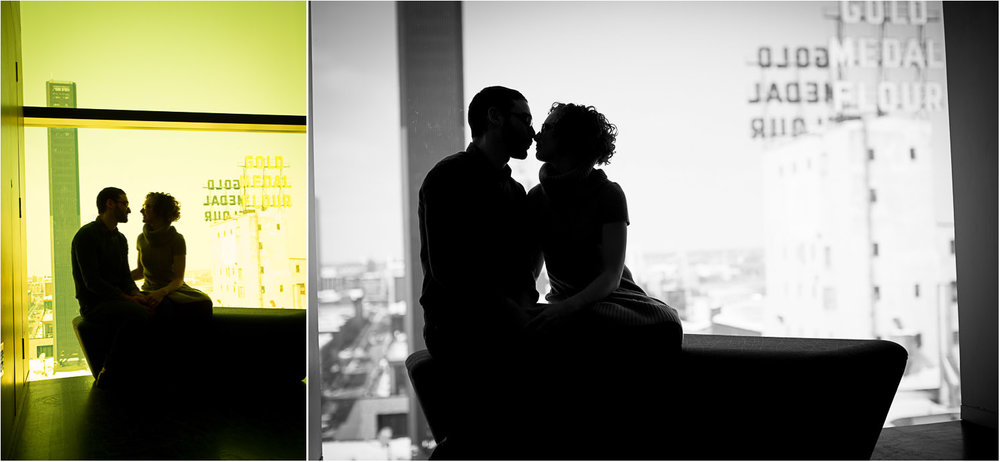 01-guthrie-theater-minneapolis-minnesota-winter-engagement-session-silhouette-gold-medal-flour-9th-floor-mahonen-photography.jpg