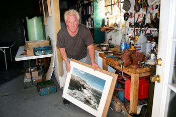 Kim Weston - Working in his studio