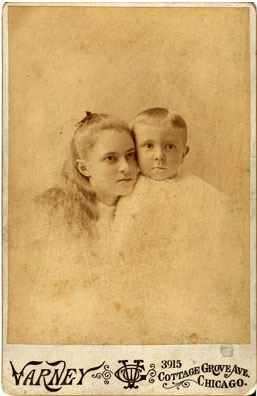 Edward Weston with his sister May