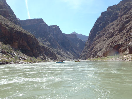 Kim Weston on the Colorado River in the Grand Canyon