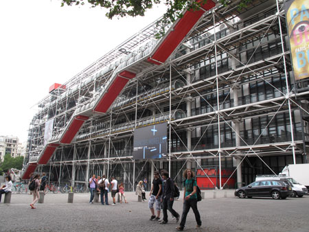 Kim Weston at the Pompidou Museum