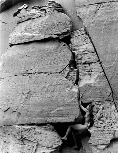 Kim Weston Lake Powell #9 Nude in Crevice