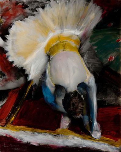Kim Weston - Head down Yellow Ballerina
