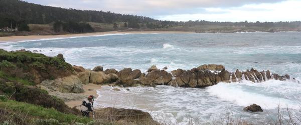 Photographer at Monastery Beach Carmel CA