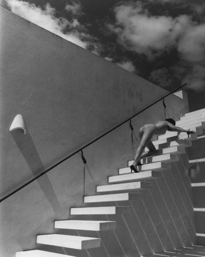 Kim Weston - Nude on White Stairs