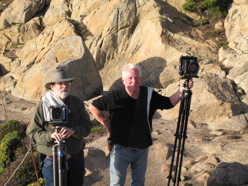 Kim Weston and John Sexton at Point Lobos filming