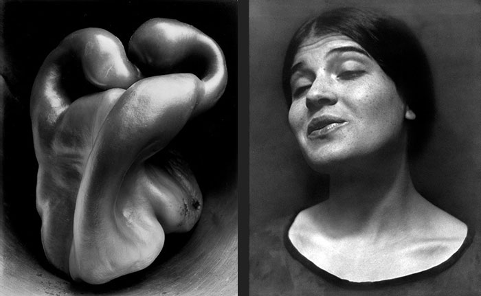 Edward Weston - Pepper 30 and Tina Reciting 1924