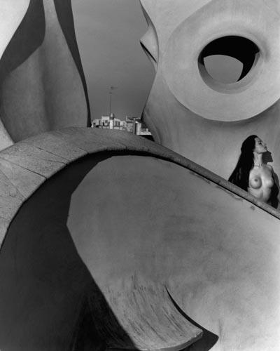 Kim Weston - Nude on Gaudi Roof