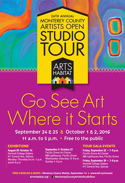 2016 Monterey County Artists Open Studio Tour
