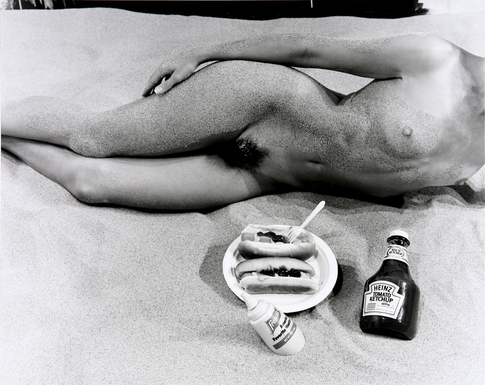 Nude with Hotdogs