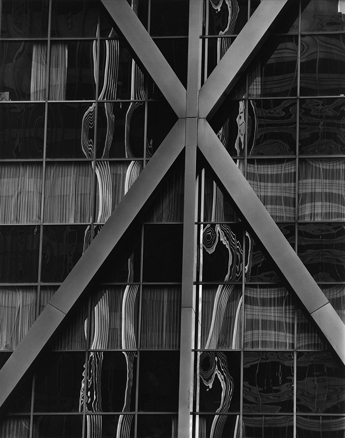 © Brett Weston Photography Archive; Alcoa Building Reflections, 1976